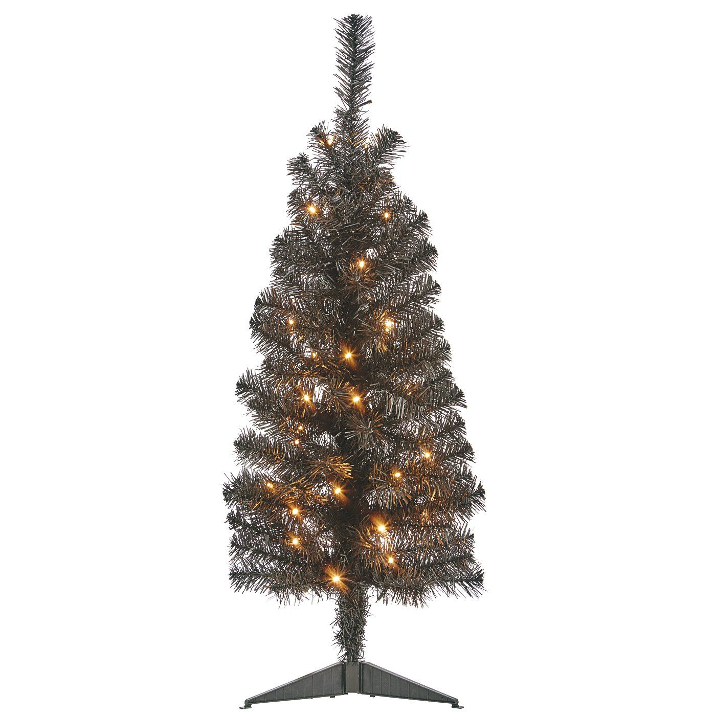 3FT Black PreLit Tree Christmas Trees ASDA direct