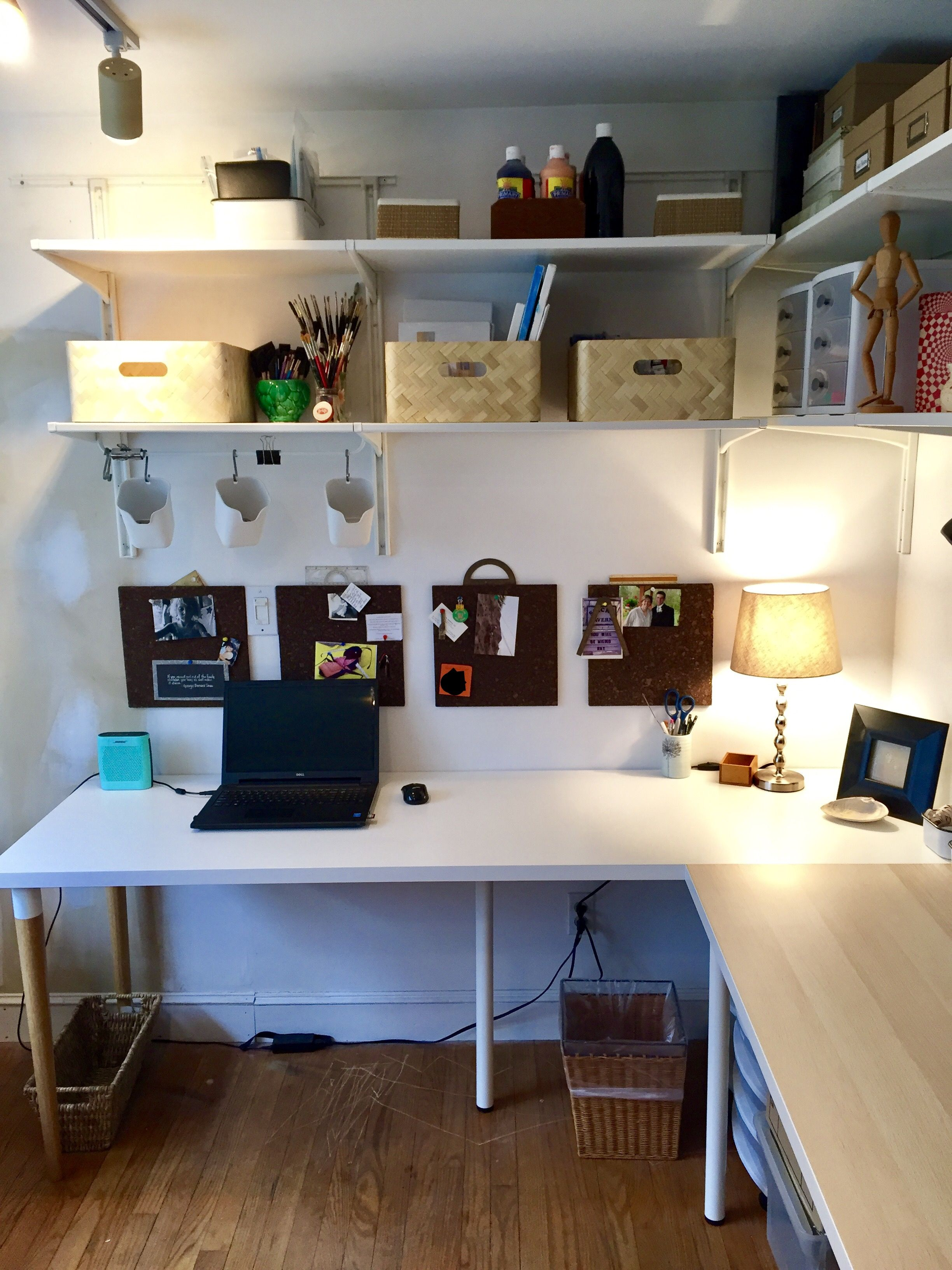 Ikea linnmon desk, algot shelving es   Ikea linnmon desk ...
