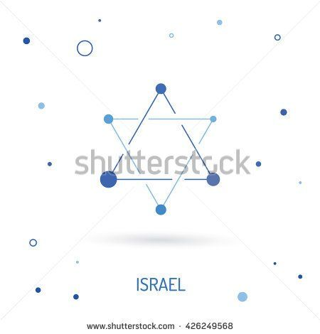 The Symbol Of Israel Is Star Of David The Star Of David In A Linear