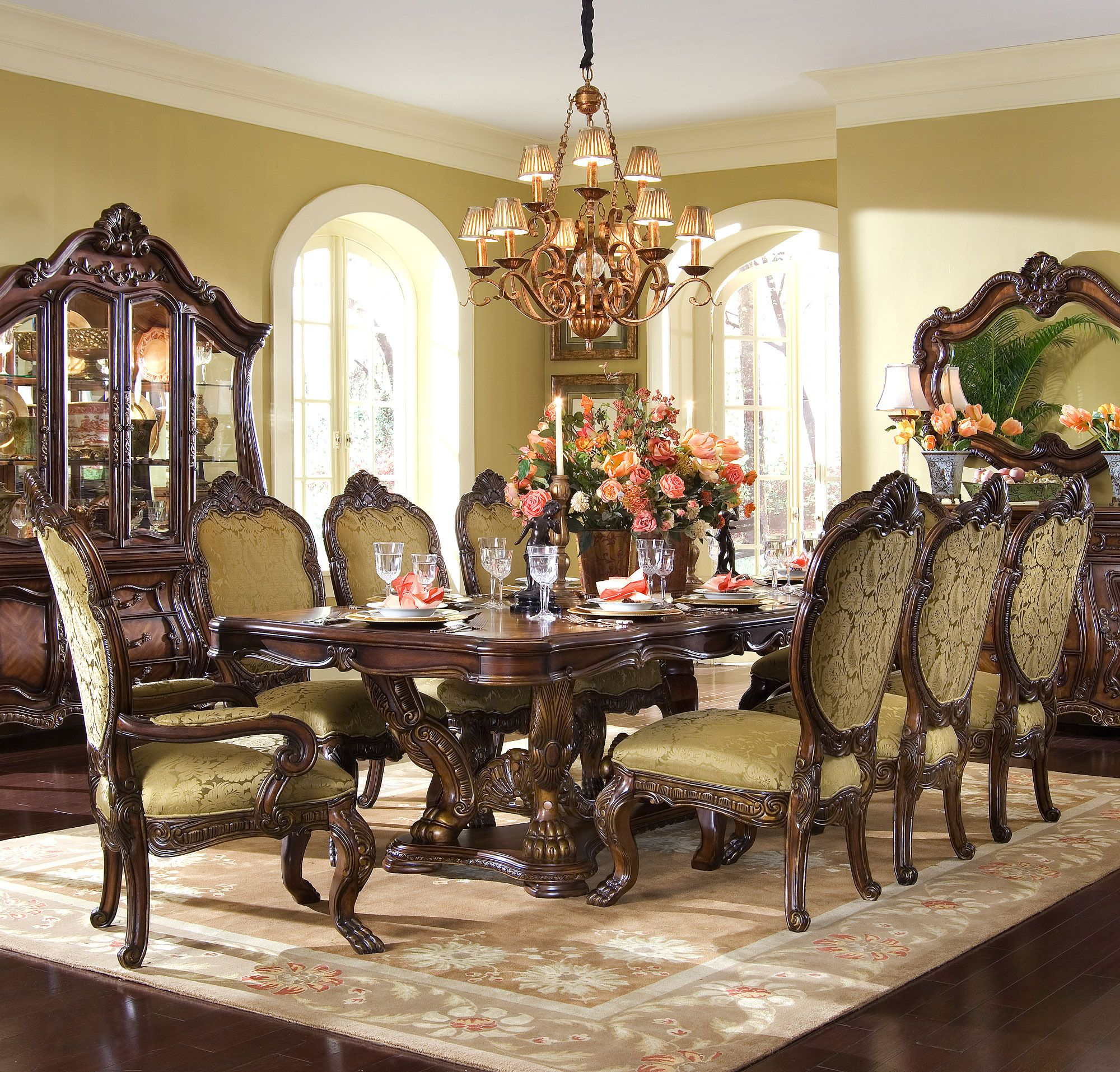 Chateau Beauvais Rectangular Table Dining Room Set Michael Amini