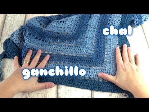 COMO HACER UN CHAL TRIANGULAR A CROCHET | GANCHILLO |Crochet shawl ...