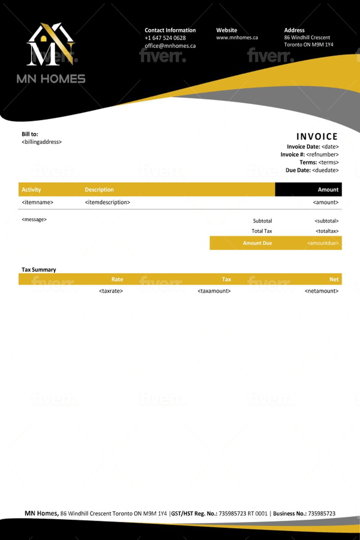 Qbo Proadvisor I Will Design Quickbooks Online Custom Invoice Template For 25 On Fiverr Com Invoice Template Quickbooks Online Create Invoice