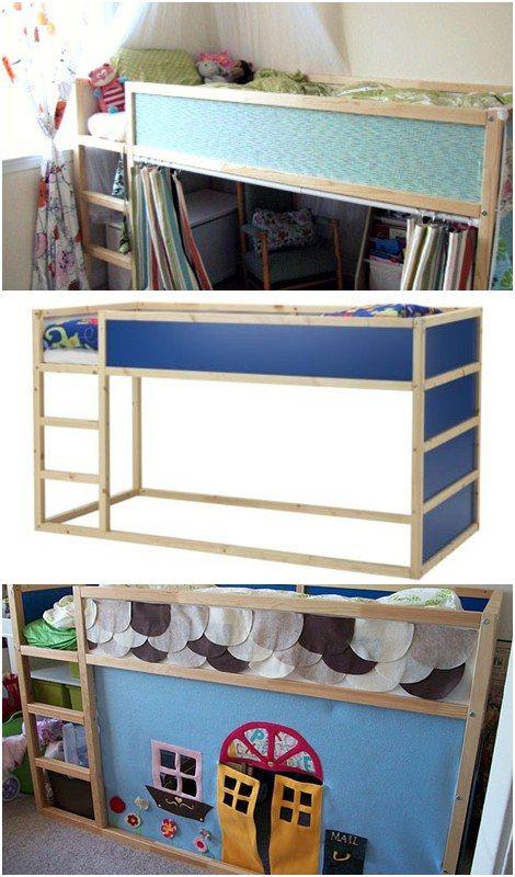 C mo personalizar una cama infantil de ikea habitacions infantils cama kura cama infantil - Cama ikea infantil ...