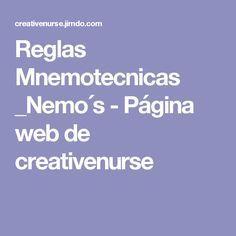 Reglas Mnemotecnicas _Nemo´s - Página web de creativenurse