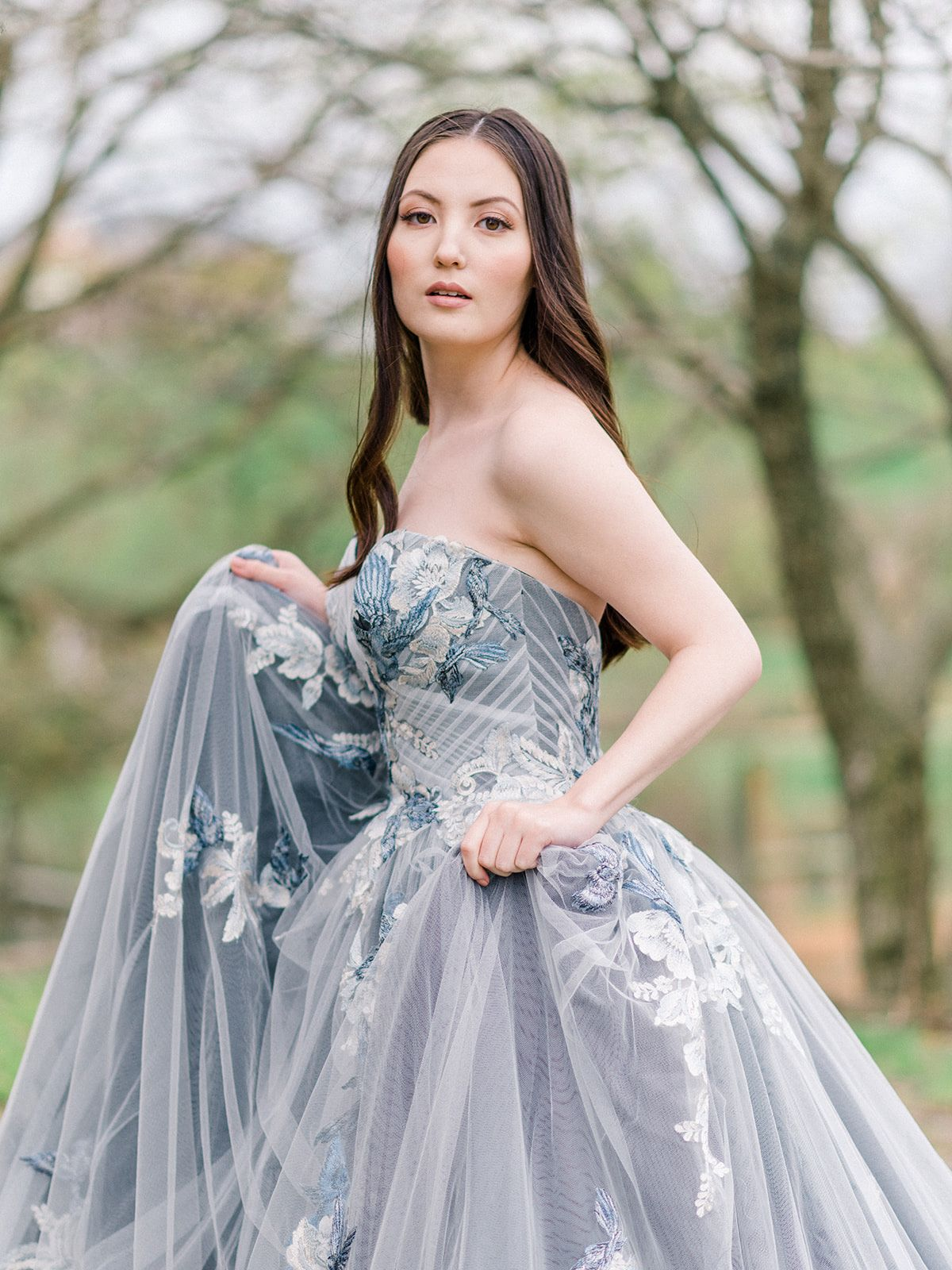 This Blue Ballgown Wedding Dress Is Giving Us Major Princess Vibes Ball Gown Wedding Dress Alternative Wedding Dresses Ball Gowns Wedding [ 1600 x 1200 Pixel ]