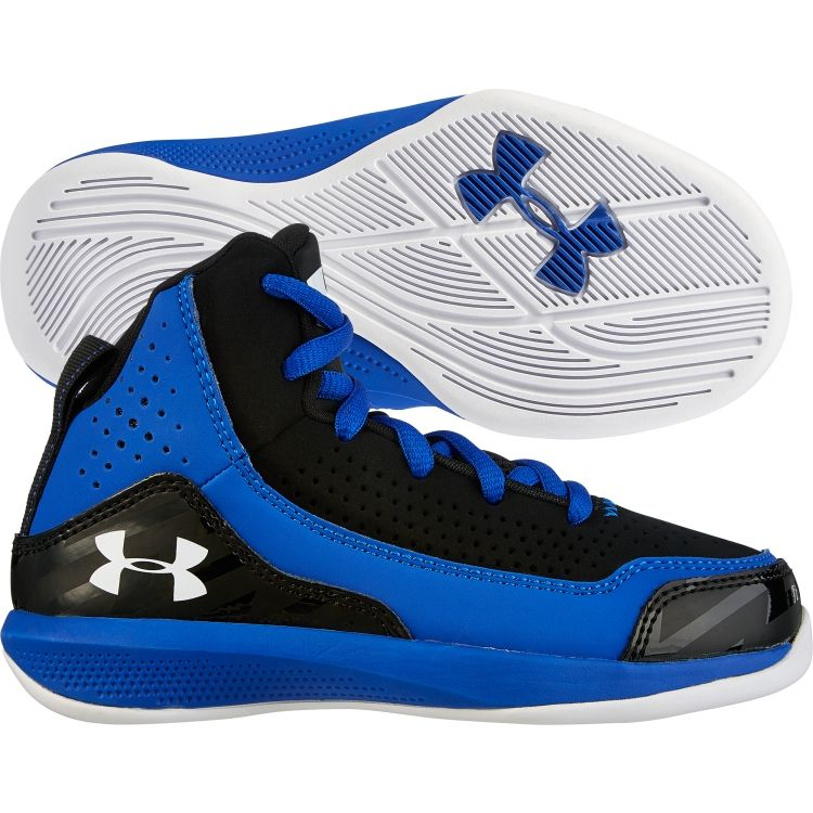 Under Armour Kids' Preschool Jet Basketball Shoe - Blue/Black ...