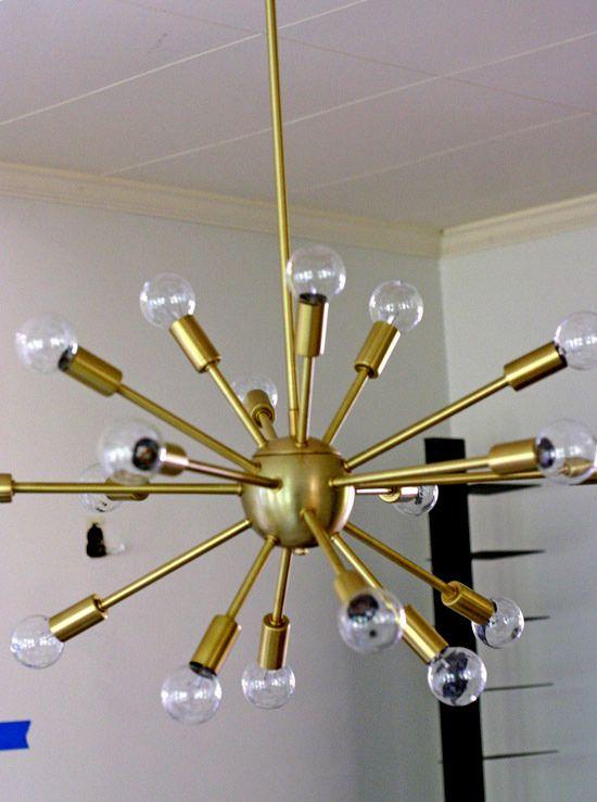 brushed brass sputnik chandelier - Brushed Brass Sputnik Chandelier Inspiration.s Pinterest