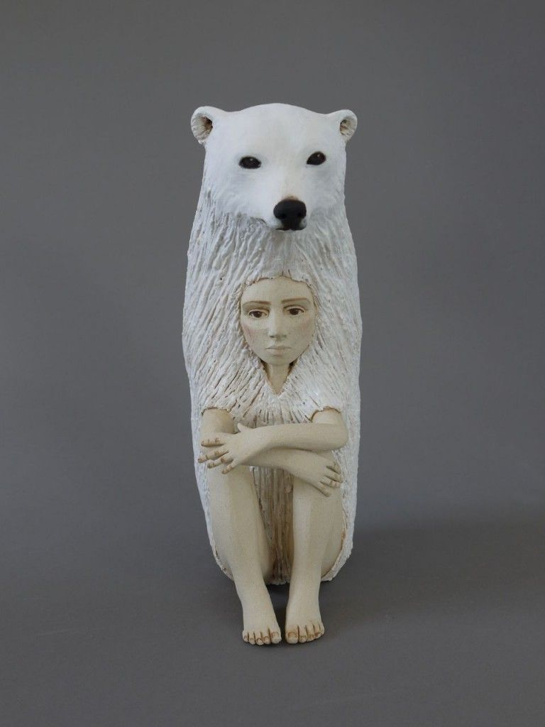 Hybrid Animal Human Ceramic Sculptures Mean To Make Us Take Not Of The Role We Play In Each Other S W Ceramic Sculpture Ceramic Art Sculpture Fine Art Ceramics