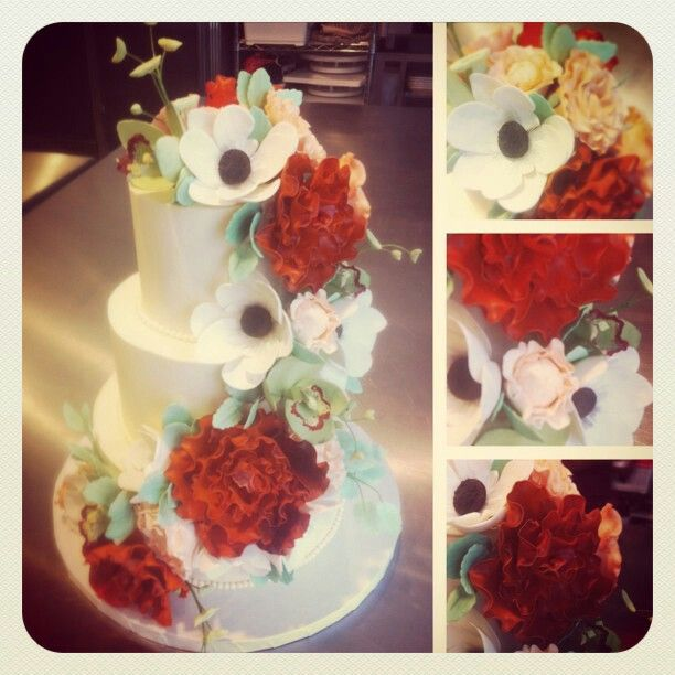 3 tier Flower cake