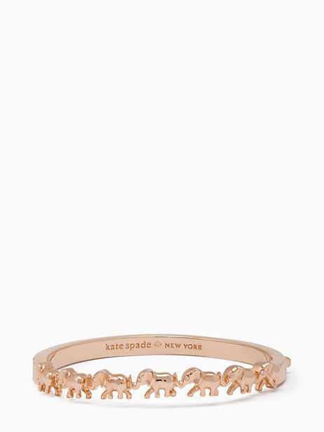 Elephant cuff Rose Gold Kate Spade elephants rosegold bracelet