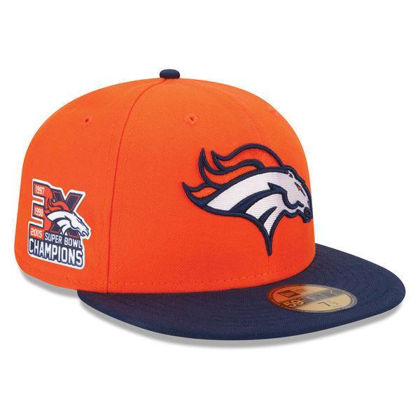 644ada71b9b Era 5950 Denver Broncos 3X Super Bowl Champs Nfl Cap Fitted Championship Hat.  Men s Denver Broncos New ...