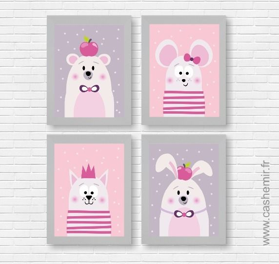 Affiches pour enfant, illustration, décoration chambre enfant bébé