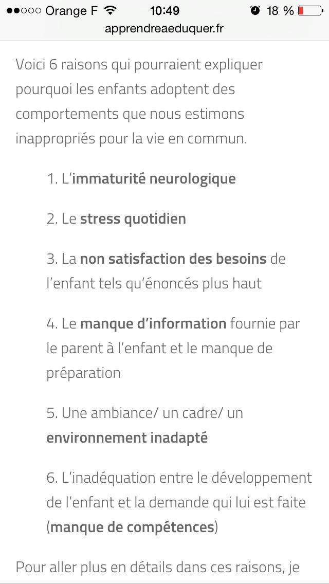 Comportement inadapté / éducation / apprendreaeduquer.fr