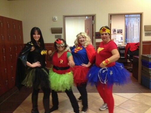 Halloween superhero tutu batman robin superman wonder woman