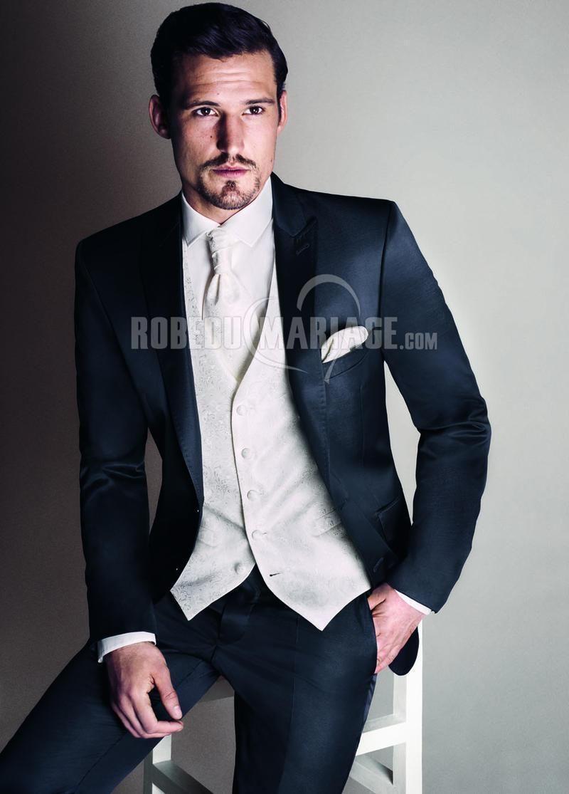 Deux boutons costumes en satin pour homme pas cher   ROBE2012697  -  robedumariage.com 58b3a1257b5