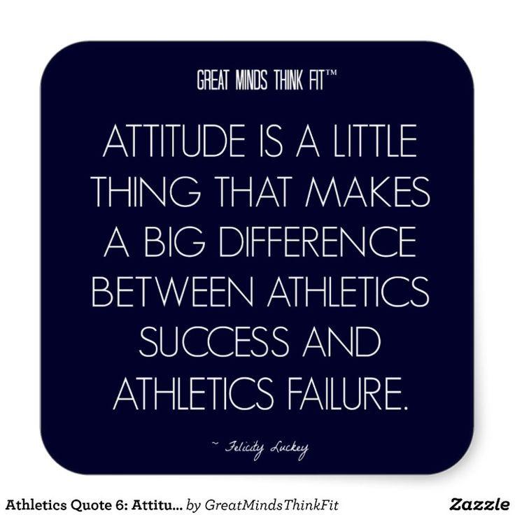 Athletics Quote 6: Attitude for Success Sticker | Zazzle.com