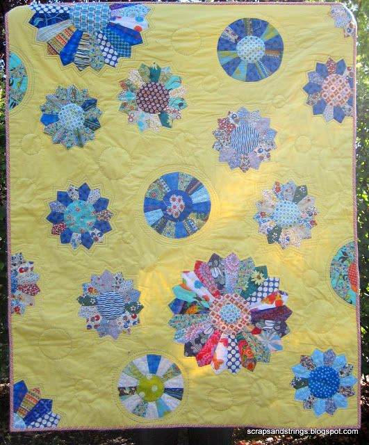 Scraps and Strings: Scrappy Dresdens for Blogger's Quilt Festival
