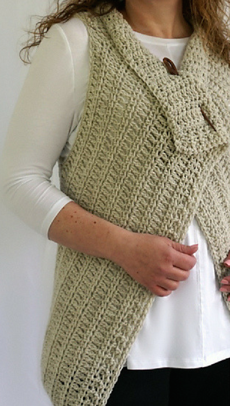 Free Crochet Pattern] So Simple And Perfect Waterfall Vest In 4 ...
