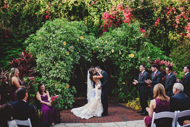 Sunken Gardens Wedding Romantic wedding photos