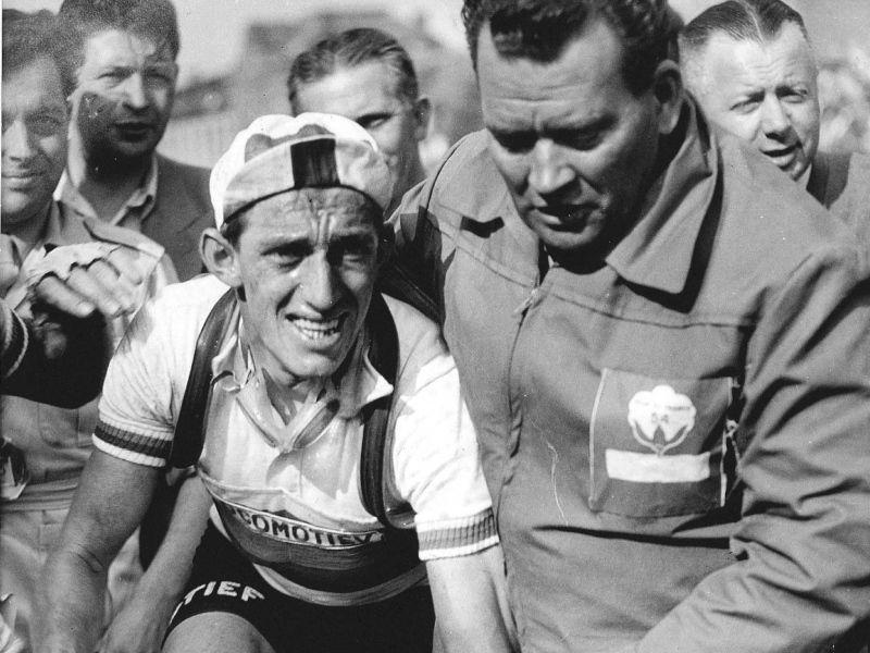 "Wouter ""Wout"" Wagtmans, Tour de France 1954. Photo - Fotoraaf ANP"