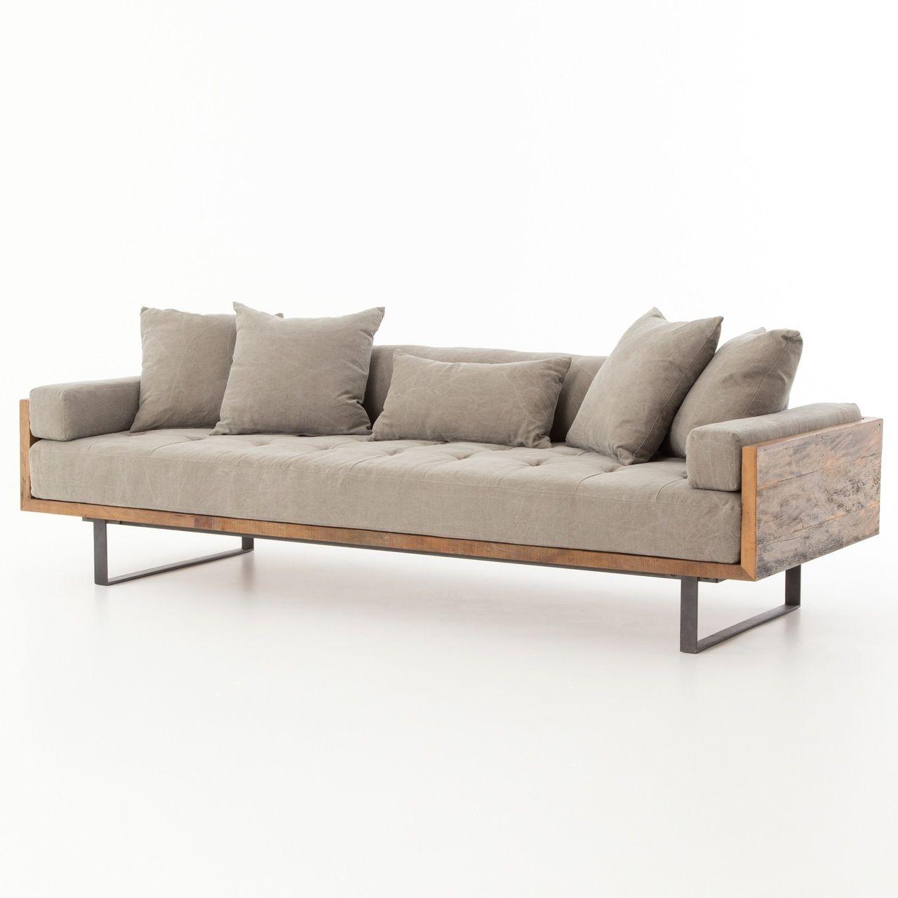 Bon Ranger Industrial Loft Reclaimed Wood Sofa   Zin Home