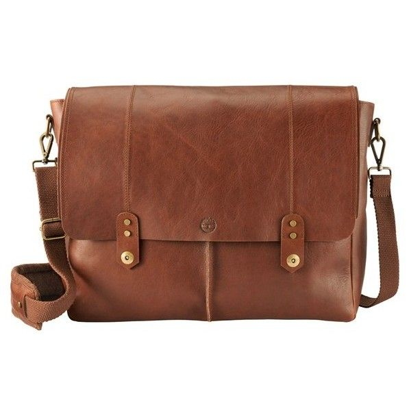 4d104965256 Men's Timberland 'Walnut Hill' Leather Messenger Bag ($325) ❤ liked on  Polyvore featuring men's fashion, men's bags, men's messenger bags, barn,  mens ...