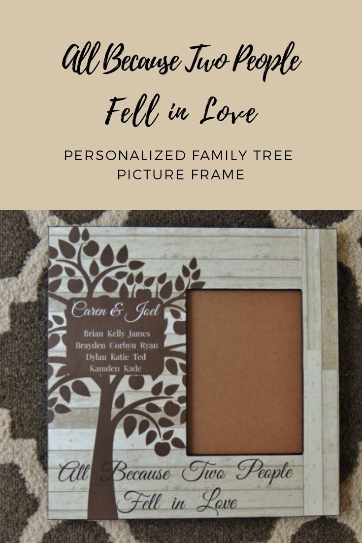 Personalized Family Tree Picture Frame | Personalized Family Frame ...