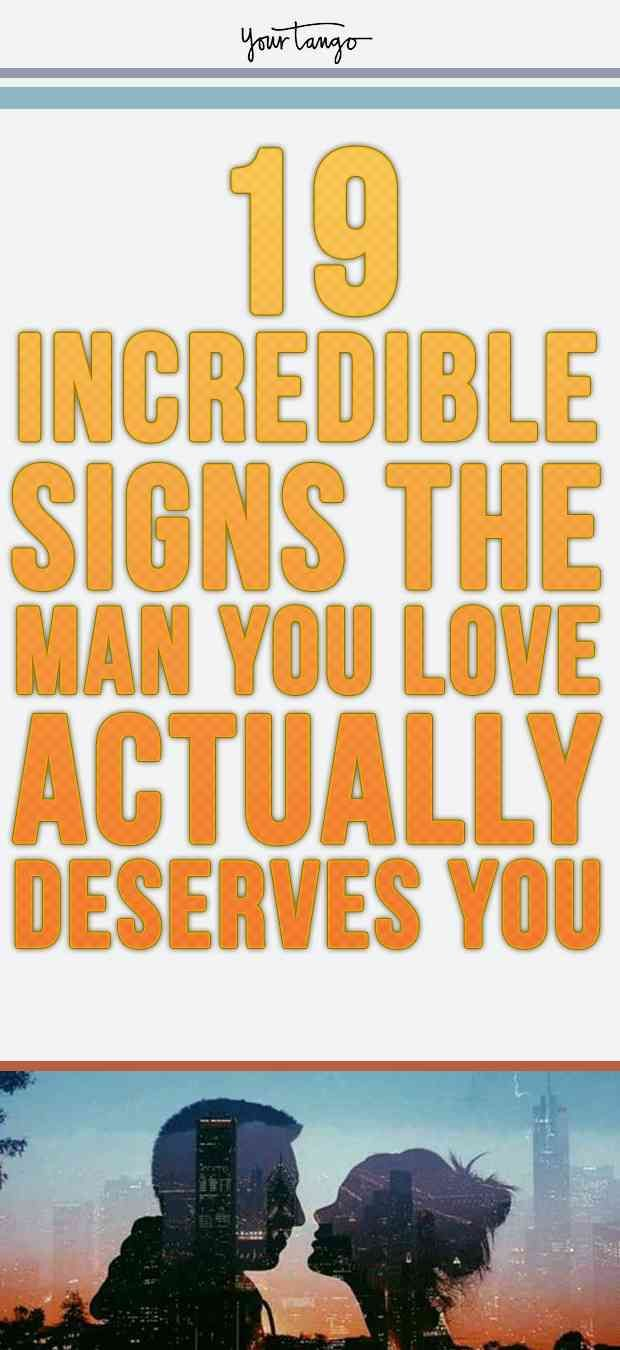 Signs of love from a man