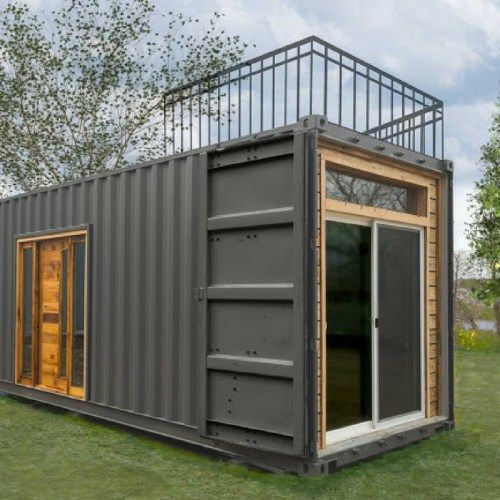 Freedom tiny shipping container home dwell boxes small for Petit container maritime
