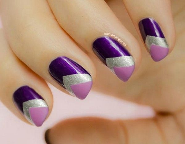 cool Nail Art Ideas: EASYNAIL ART SCOTCH TAPE - Cool Nail Art Ideas: EASYNAIL ART SCOTCH TAPE Nail Design