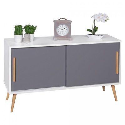 Sideboard Mit Schiebeturen 120 Cm Skandinavisch Design Kommode