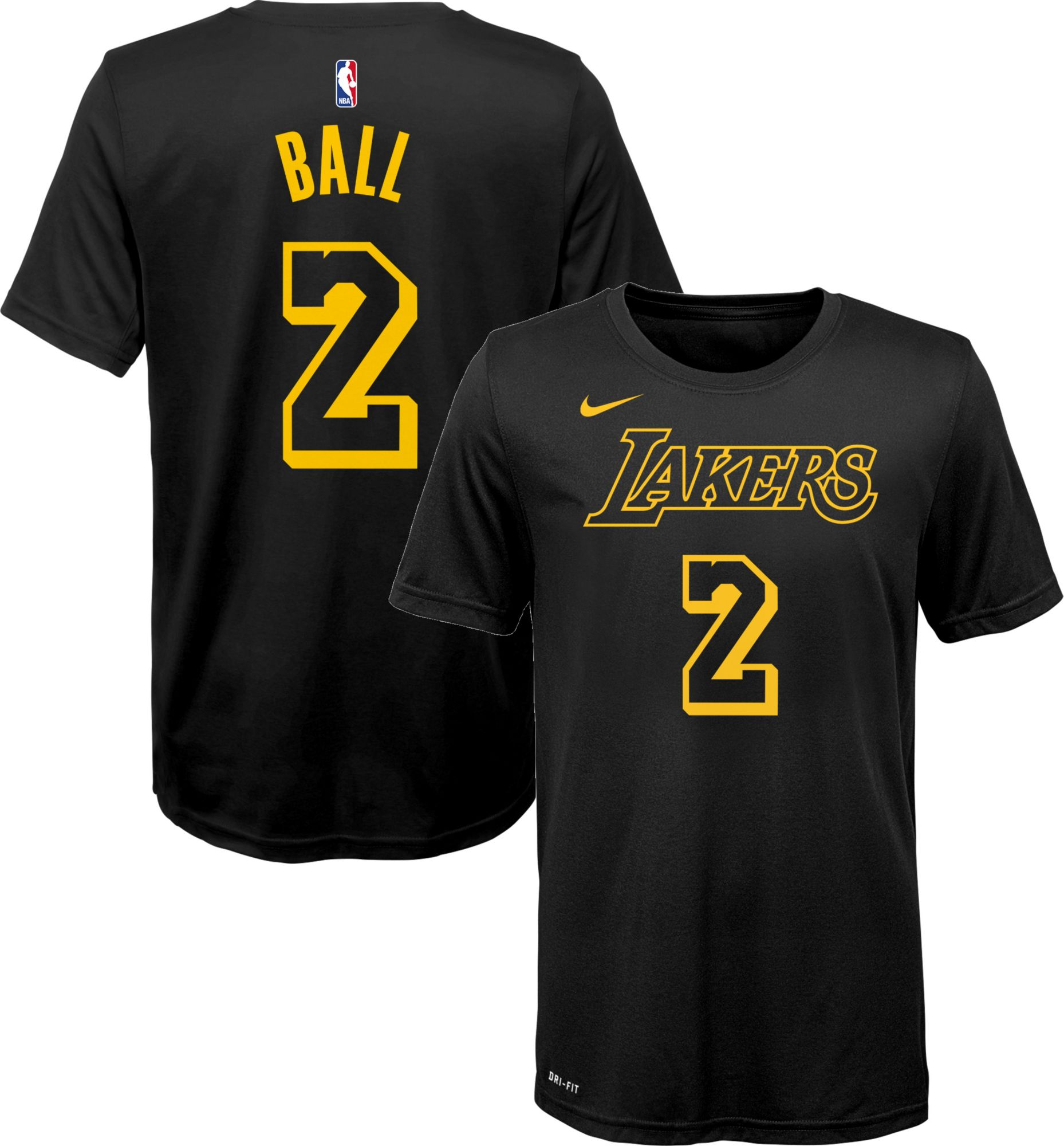 official photos d1ecd e0156 Nike Youth Los Angeles Lakers Lonzo Ball Dri-FIT City ...