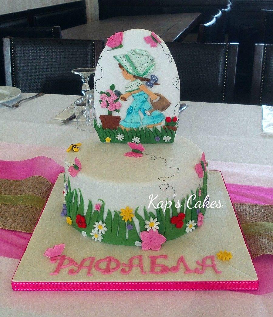 Sarah Kay Christening Cake  on Cake Central
