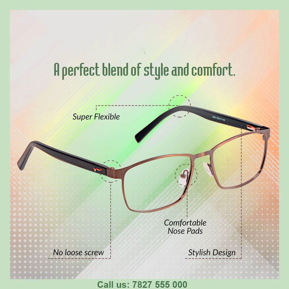 c89baf7e71 General Eyewear · Frame · A perfect blend of style and comfort on Om  Opticals. These frames are comfortable and