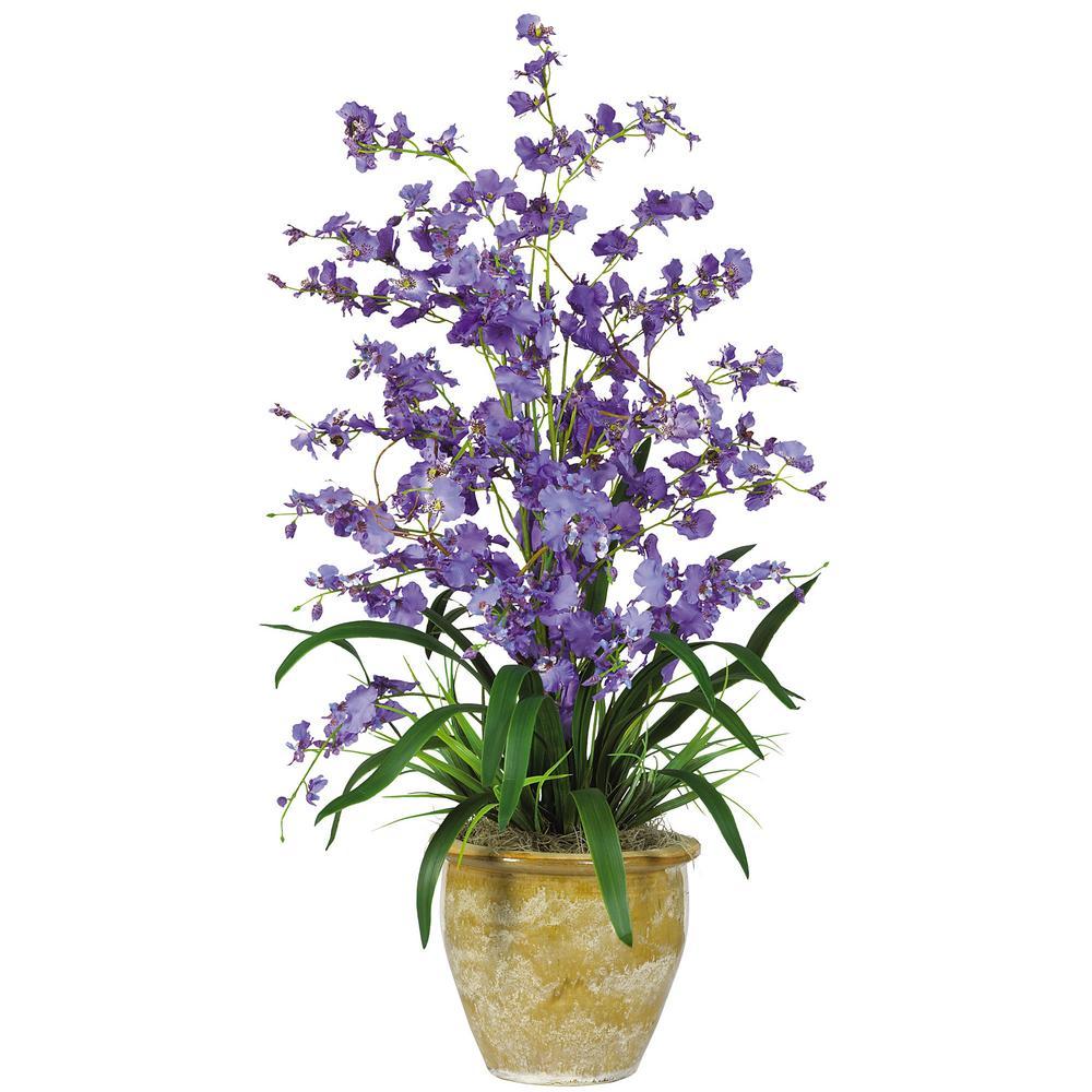 32 In Triple Dancing Lady Silk Flower Arrangement In Purple