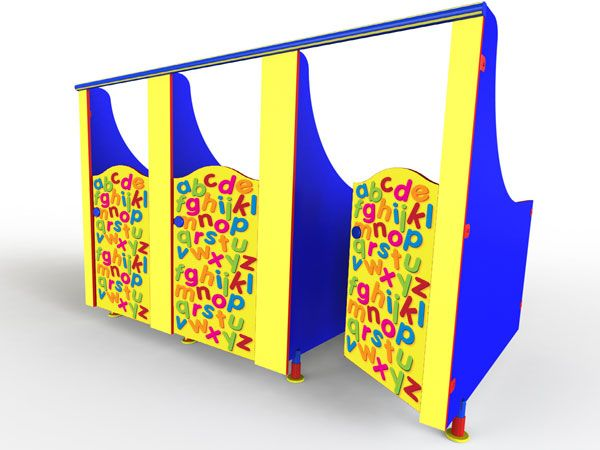 ABC themed toilet cubicles for schools and nurseries