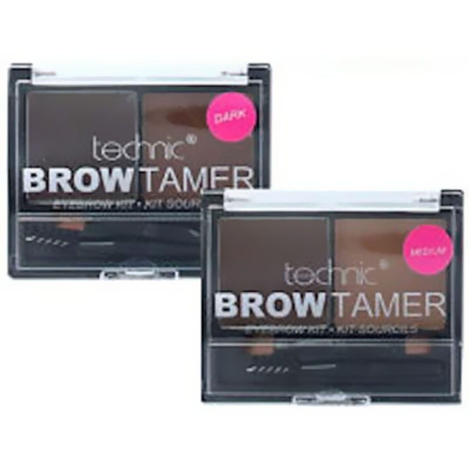 Technic Brow Tamer Medium Dark Eyebrow Shaping Kit Wax Power With