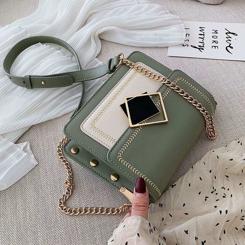 Buy Chain Pu Leather Crossbody Bags For Women 2020 Small Shoulder Messenger Bag Special Lock In 2020 Crossbody Messenger Bag Leather Crossbody Bag Chain Crossbody Bag