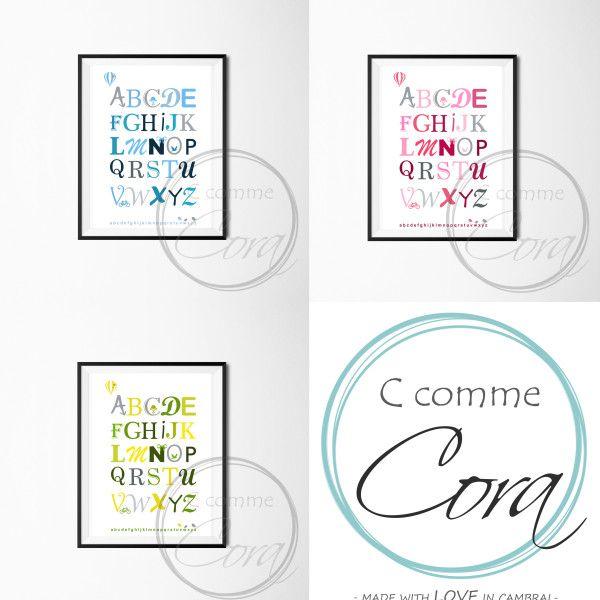 Affiche Abécédaire by C Comme Cora