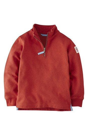 Mini Boden Half Zip Sweatshirt (Toddler Boys, Little Boys & Big Boys) available at #Nordstrom