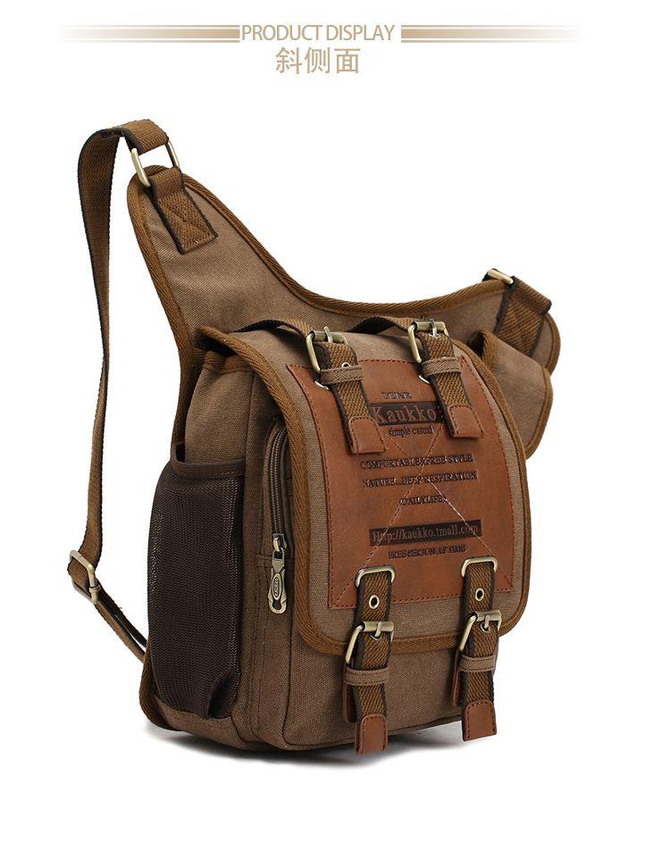 9d88de7a32 KAUKKO brand retro vintage canvas bag men messenger bag man cross body bags
