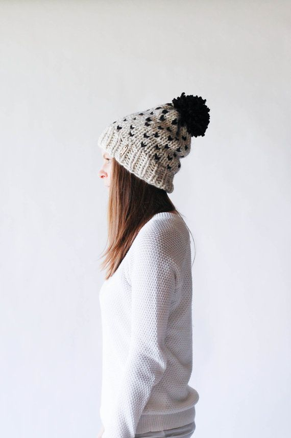 Ready To Ship! / Knit Slouchy Two-Tone Hat / THE FRONTIER ...