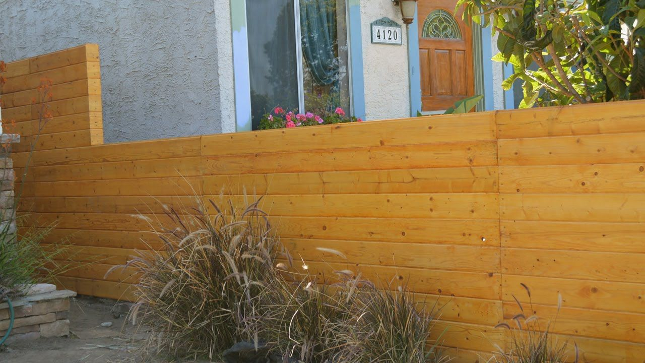 How to build a horizontal cedar fence