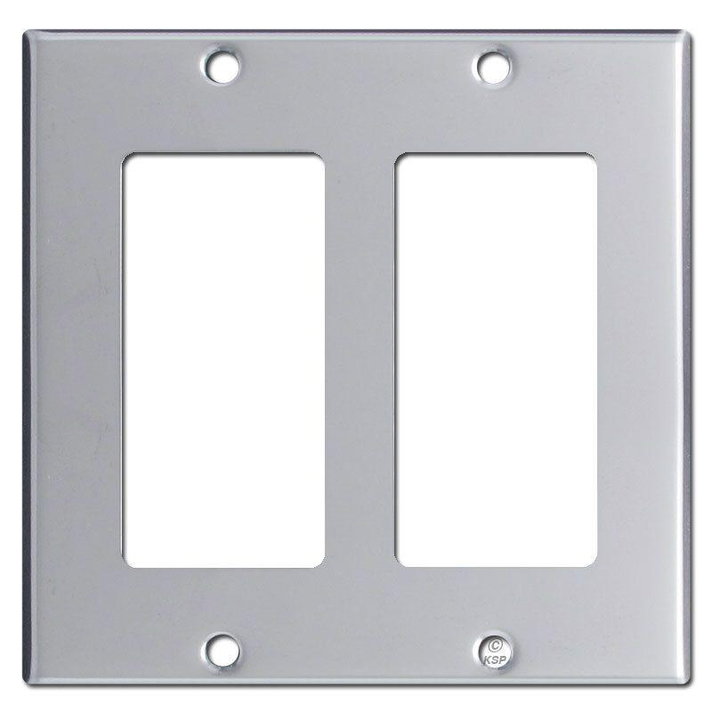 Rocker Switch Plate Brilliant Double Rocker Switch Plate Cover  Polished Chrome  Switch Plate Design Inspiration