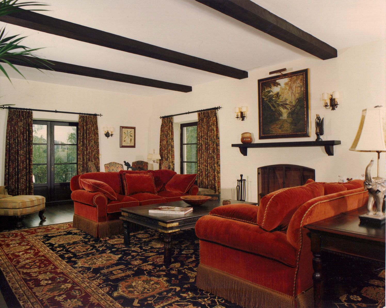 Living Room In Spanish Navy Blue Furniture Ideas Style Pinterest Homes