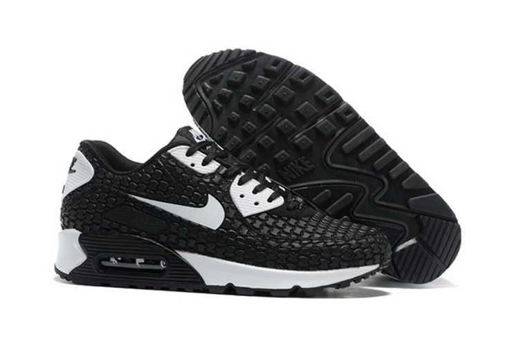1767 : Nike Air Max 90 Qs Dam Svart Vit SE778957pcTkUmeQc