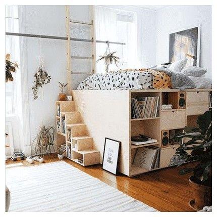 31 Raised Bed Inside Built In Wardrobe 00016 Tiny Bedroom