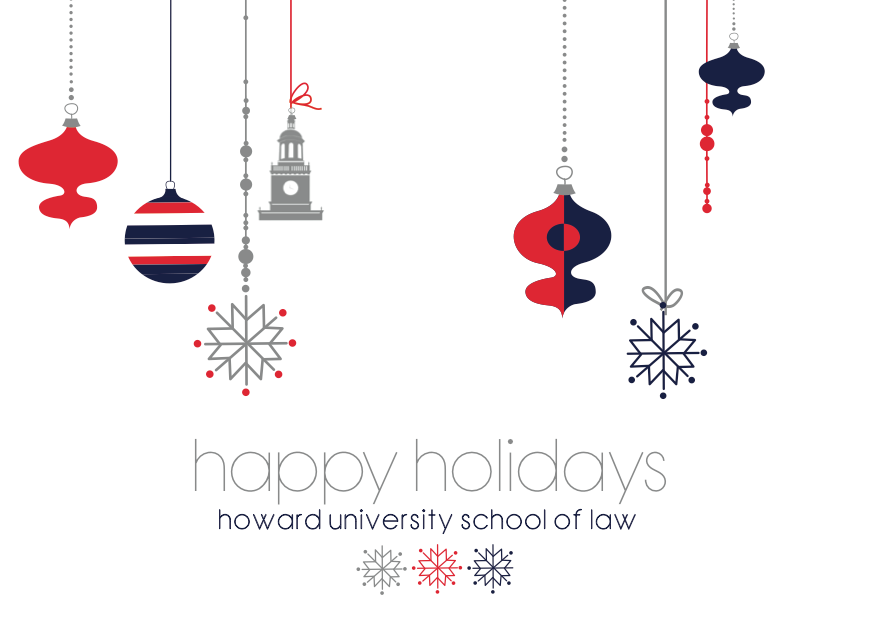 Holiday Cards For Howard University School Of Law By Www Caseyrenae Com Holiday Cards Cards Card Design