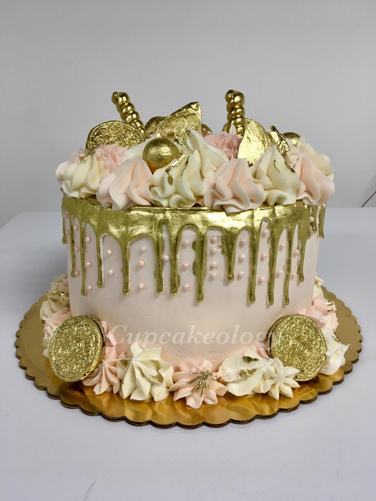 Gold Drip Cake Drip Cakes Novelty Birthday Cakes Drip Cake Tutorial
