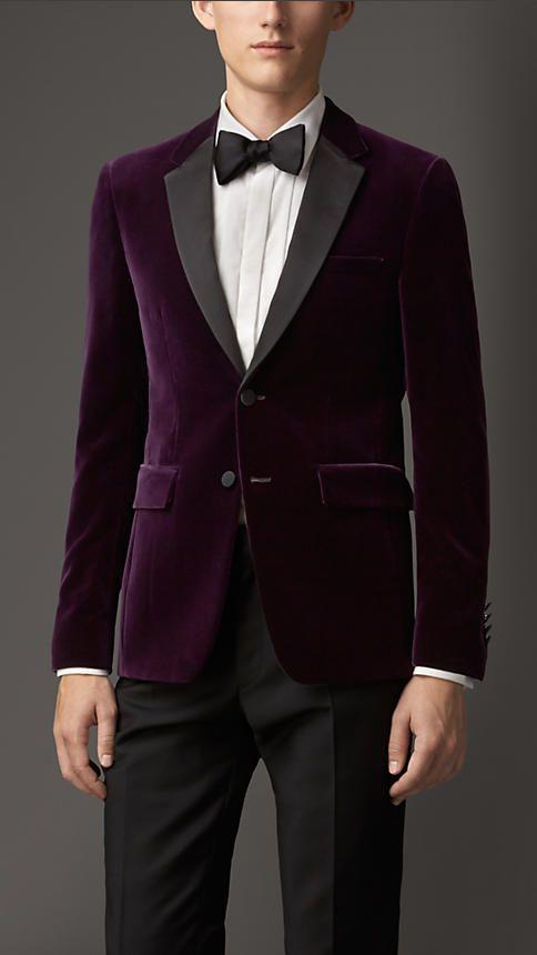 770088a4d1e6 Burberry London Slim Fit Velvet Jacket